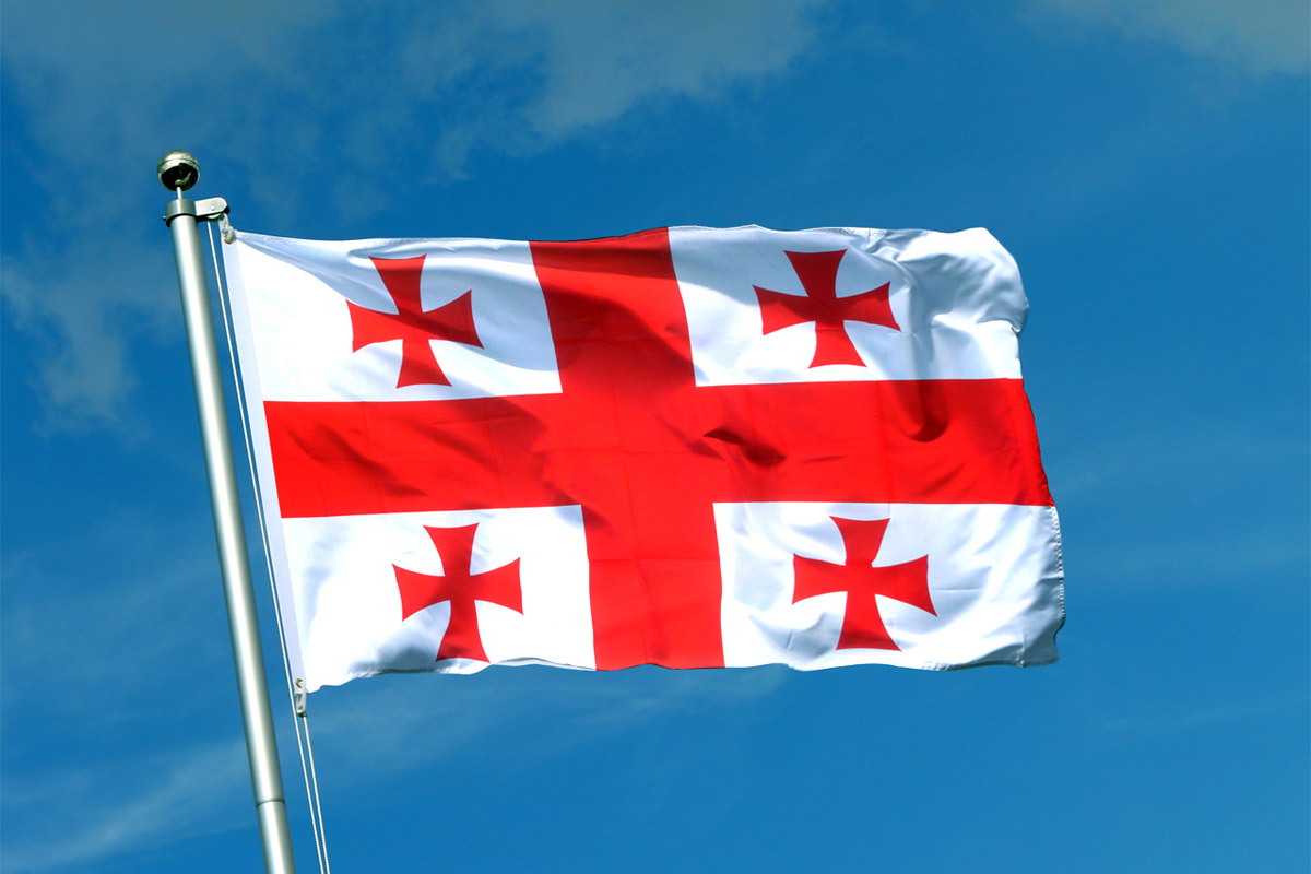 грузинский флаг фотографии