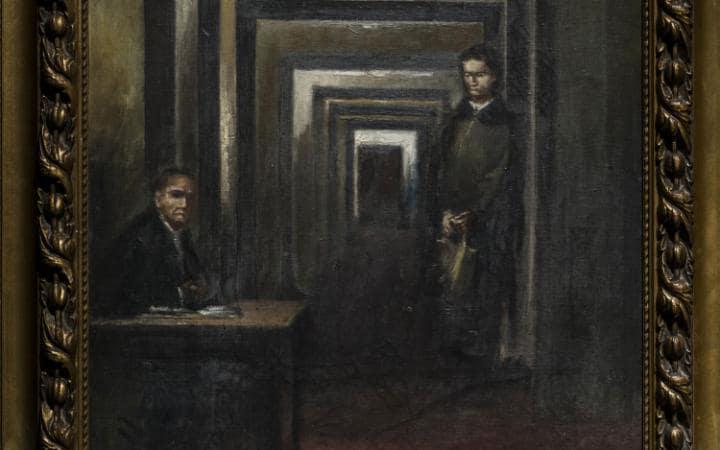 ВИталии показали доэтого  невыставлявшуюся картину Гитлера