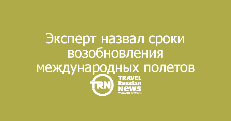 Эксперт назвал сроки возобновления международных полетов