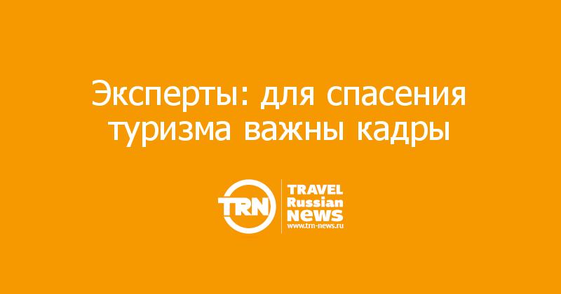 Эксперты: для спасения туризма важны кадры