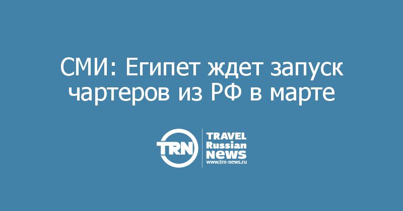 СМИ: Египет ждет запуск чартеров из РФ в марте