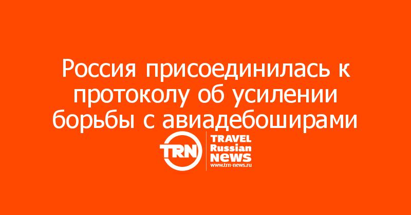 Россия присоединилась к протоколу об усилении борьбы с авиадебоширами