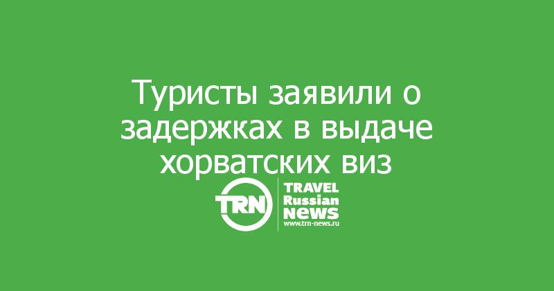 Туристы заявили о задержках в выдаче хорватских виз