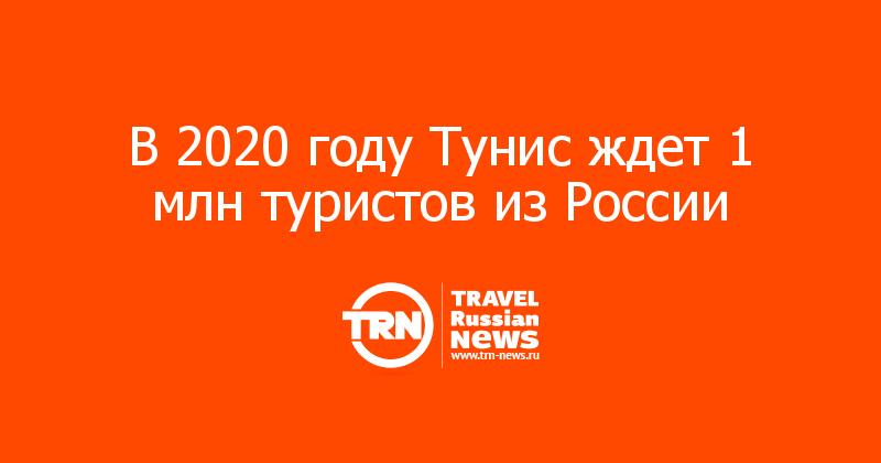 В 2020 году Тунис ждет 1 млн туристов из России