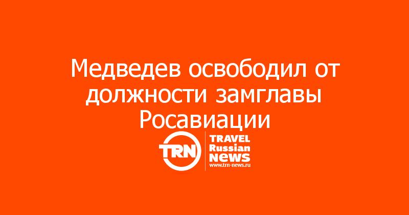 Медведев освободил от должности замглавы Росавиации