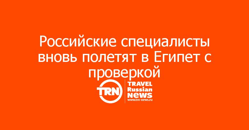 Российские специалисты вновь полетят в Египет с проверкой