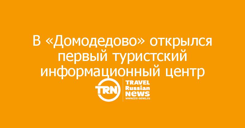 В «Домодедово» открылся первый туристский информационный центр