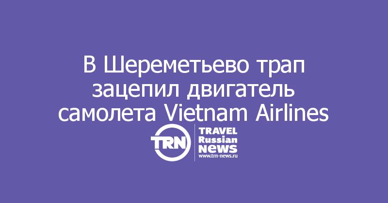В Шереметьево трап зацепил двигатель самолета Vietnam Airlines